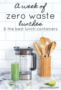 Meal prep recipes and zero waste lunch container suggestions!