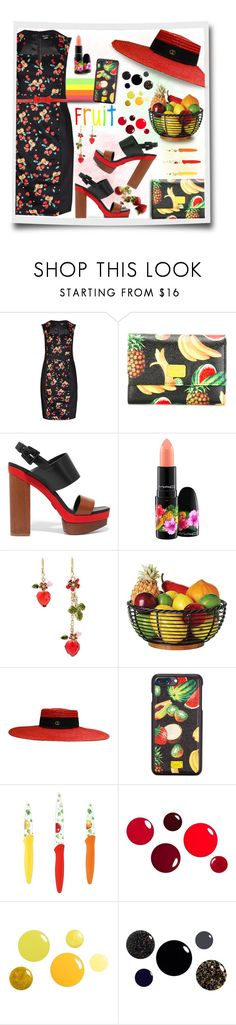 """Summer Fruit"" by loveroses123 ❤ liked on Polyvore featuring City Chic, Dolce&Gabbana, Michael Kors, MAC Cosmetics, FRUIT, Betsey Johnson, Gucci, Cuisinart, Blugirl Folies and plus size dresses"