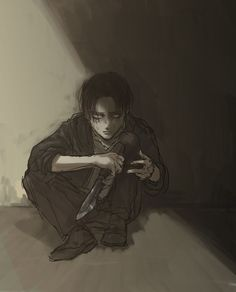 """""""Stay back.... I've already killed enough people. If you want to keep your life then don't come any closer..."""" -Rivaille"""