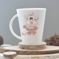 Cute Mug, Clay Cup, Diy Gifts, Polymer Clay, Mugs, Tableware, Handmade, Biscuit, Calla Lilies