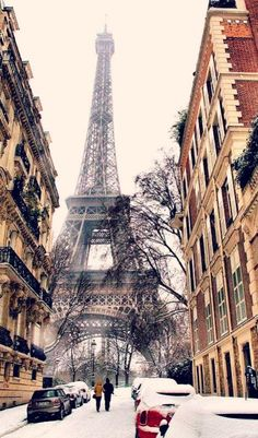 Paris, France. I would love to be in Paris when it is snowing. It is so beautiful!