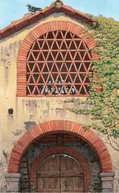 favole di campagna innocenti detti Brick, Garage Doors, Architecture, Outdoor Decor, Art, Houses, Arquitetura, Art Background, Kunst