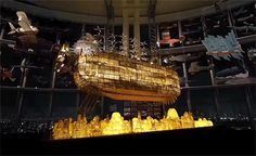 The spectacular floating ship from Castle in the Sky at The Ghibli Expo, Roppongi Hills Tokyo City!