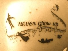 Peter Pan - never grow up - done at Monster Tattoo in Queens, New York.