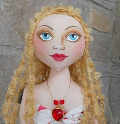 Romantic Blond Mermaid Art Doll  by Lisa Monica Nelson