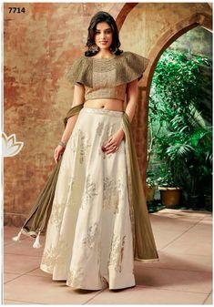Buy Off White Silk Embroidered Designer Lehenga Choli Online Saree Blouse Neck Designs, Choli Designs, Fancy Blouse Designs, Designs For Dresses, Lehenga Designs, Indian Fashion Dresses, Indian Designer Outfits, Stylish Blouse Design, Party Wear Lehenga