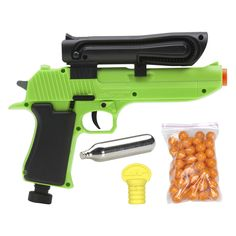 Amazon.com : JT US-50 Semi Auto 0.50-Calibre Paintball Marker, Green : Paintball Guns : Sports & Outdoors Paintball Party, Paintball Field, Paintball Mask, Paintball Guns, Airsoft Guns, Outdoor Shooting Range, Drop Leg Holster, Barbie Toys, Air Rifle