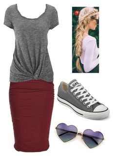 """""""Untitled #155"""" by robindavis-1 ❤ liked on Polyvore featuring maurices, Converse and Wildfox"""
