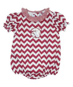 Look what I found on #zulily! Mississippi State Bulldogs Chevron Bubble Bodysuit - Infant #zulilyfinds