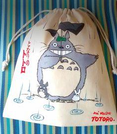 Bolsa pintada a mano, Mi vecino Totoro ^_^