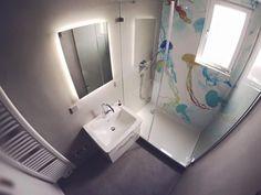 Badezimmer stuttgart ~ Dusche mit tapete im badezimmer dach pinterest