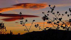 Spectacular clouds over the spa town of Lanjarón Alpujarra Granada Spain from Spanish Highs, Sierra Nevada