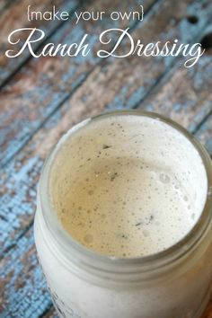 Homemade ranch dressing Recipe! Easy Ranch Dressing for dipping or to use on salads!