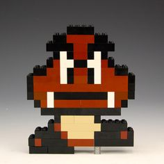 Lego Goomba by BrickBum Lego Mario, Lego Super Mario, Super Mario Birthday, Lego Birthday Party, Mario Bros, Lego Challenge, Lego Sculptures, Lego Club, Geek Decor