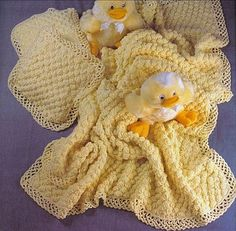 Yellow Baby Blanket free crochet graph pattern