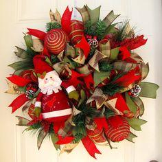 Deluxe Rustic Santa Christmas Holidays Indoor by NicoleDCreations