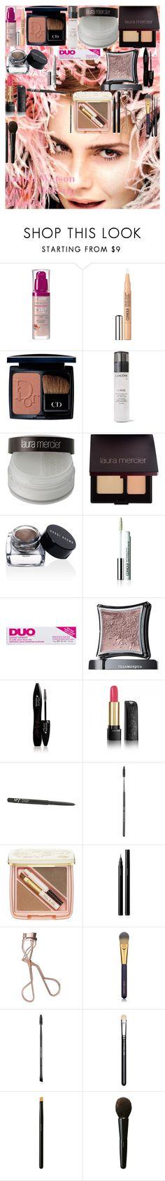"""Emma Watson Cover Makeup Tutorial"" by oroartye-1 on Polyvore featuring beauty, Emma Watson, Bourjois, Clinique, Christian Dior, Lancôme, Laura Mercier, Bobbi Brown Cosmetics, DUO and Illamasqua"