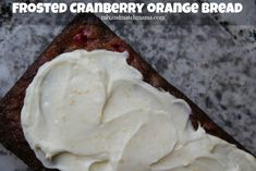 Frosted Cranberry Orange Bread Recipe | Mix and Match Mama