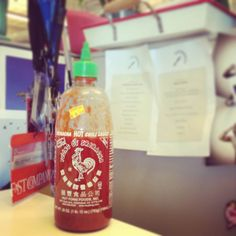 Fast Company's resident foodie and Web Producer Cia Bernales keeps her desk stocked with a bottle of Sriracha sauce . . . just in case. #myawesomedesk
