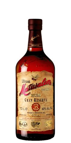 "Matusalem 15 Gran Reserva Rum the ""Cognac of Rums"" for B Whisky, Cigars And Whiskey, Scotch Whiskey, Sugarcane Juice, Good Rum, Alcohol Bottles, Liquor Bottles, Rum Bottle, Liquor Store"