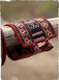 Chahuaytire Woven Cuff $39 | The graphic #cuff is #handwoven of vegetal-dyed wool in the #Andean village of Chahuaytire.