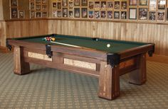 Walnut And Quilted Maple Arts And Crafts Custom Pool Table... #craftsman #