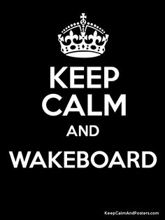 Wakeboard..I'm ready for summer again, fun on the lake.