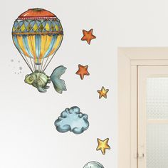 Flying fish by Xènia Besora Find more: http://camaloon.com/en/gallery/wall-stickers/318553388