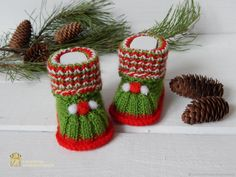 """Buy Booties """" happy New year! """" on Livemaster online shop"""