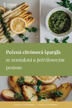 Jemne citrónová chuť špargle v kombinácii s výrazným petržlenovým pestom a chrumkavými zemiakmi sa postará o kvalitný chuťový zážitok.  Vhodné ako ľahký fit obed či zdravá večera. Pesto, Chicken, Fit, Cubs