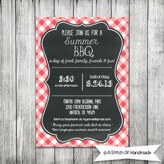 Printable BBQ Invitation - Dinner BBQ Invitation - Summer Invitation