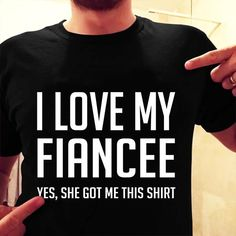 Engagement Gift for Fiance I Love My Fiancee Funny – Standard T-shirt Source Engagement Presents, Gifts For Fiance, Fiancee, Funny Tshirts, My Love, T Shirt, Blog, Supreme T Shirt, Tee