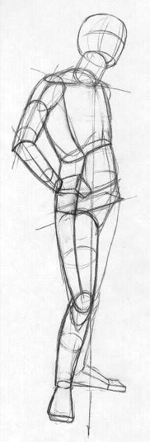 Körperhaltung zeichnen - Bleistift - Erklärungen
