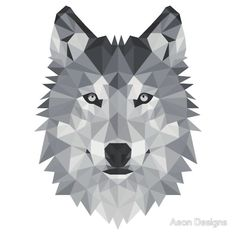 geometric wolf - Google Search                                                                                                                                                                                 More