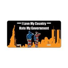 I Love My Country Aluminum License Plate > Auto License Plate > The Art Studio by Mark Moore