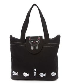 Look what I found on #zulily! Black Kitty Tote #zulilyfinds