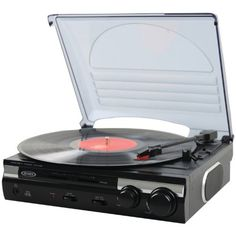 3 #Speed Stereo Turntable with Built In Speakers, Software to Convert Records to MP3, RCA Line out, Pitch and Tone Control