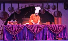 chef's kitchen - 1/3 size using table and material to be wheeled onstage