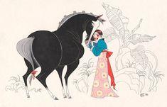 Mulan - The Beautiful Wardrobes From Princess Visual Development Art Disney Mode, Disney Art, Walt Disney Animation Studios, Character Concept, Character Art, Disney Concept Art, Tumblr, Fan Art, Visual Development
