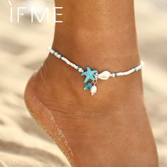 Ankle bracelets - IF ME Fashion Bohemian Imitation pearls Starfish Charms Bracelets Anklets For Women Summer Foot Chain Shell Jewelry Gift – Ankle bracelets Shell Jewelry, Beach Jewelry, Wire Jewelry, Jewelry Gifts, Jewelry Accessories, Handmade Jewelry, Gold Jewelry, Jewellery, Jewelry Necklaces