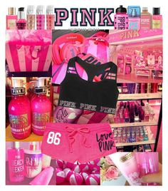 """PINK"" by eirinimaria ❤ liked on Polyvore featuring Victoria's Secret and Victoria's Secret PINK"