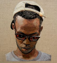 The artwork above is a new piece by Daniel Kornrumph—his first embroidered portrait in nearly three years.