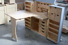 Folding Furniture, Space Saving Furniture, Bespoke Furniture, Furniture Making, Bedroom Furniture, Home Furniture, Smart Furniture, Furniture Ideas, Craft Storage Cabinets