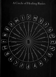Reiki A Circle of Healing Runes. More Amazing Secret Discovered by Middle-Aged Construction Worker Releases Healing Energy Through The Palm of His Hands. Cures Diseases and Ailments Just By Touching Them. And Even Heals People Over Vast Distances. Alphabet Symbols, Reiki Symbols, Magic Symbols, Symbols And Meanings, Norse Symbols, Egyptian Symbols, Viking Runes Alphabet, Welsh Symbols, Warrior Symbols