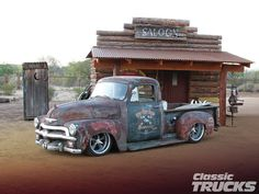 #54#chevy#truck---I'm even thinking about this old rust look...AWESOME!