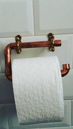 Porte rouleau de papier toilette en cuivre