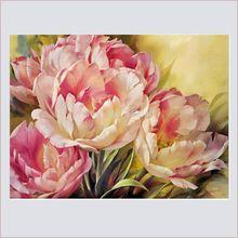 2016 новый пион живопись цветы розовые бриллианты мозаика серии картину алмазов вышивки - крестом вышитые травы(China (Mainland))