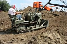 "rollerman1: ""Cool little 1941 Clark CA-1 Airborne dozer. """