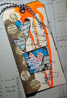 jbs inspiration Atc Cards, Card Tags, Gift Tags, Kunstjournal Inspiration, Art Journal Inspiration, Altered Books, Altered Art, Art Journal Pages, Art Journals
