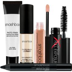 Smashbox Try It Kit 1 kit (5.500 HUF) ❤ liked on Polyvore featuring beauty products, gift sets & kits, makeup, beauty, fillers, accessories, cosmetics, smashbox kit, polishing kit and smashbox